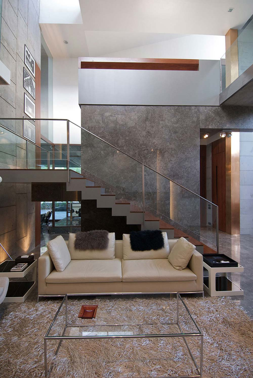 Marble Walls, Stairs, Poona House in Mumbai, India by Rajiv Saini