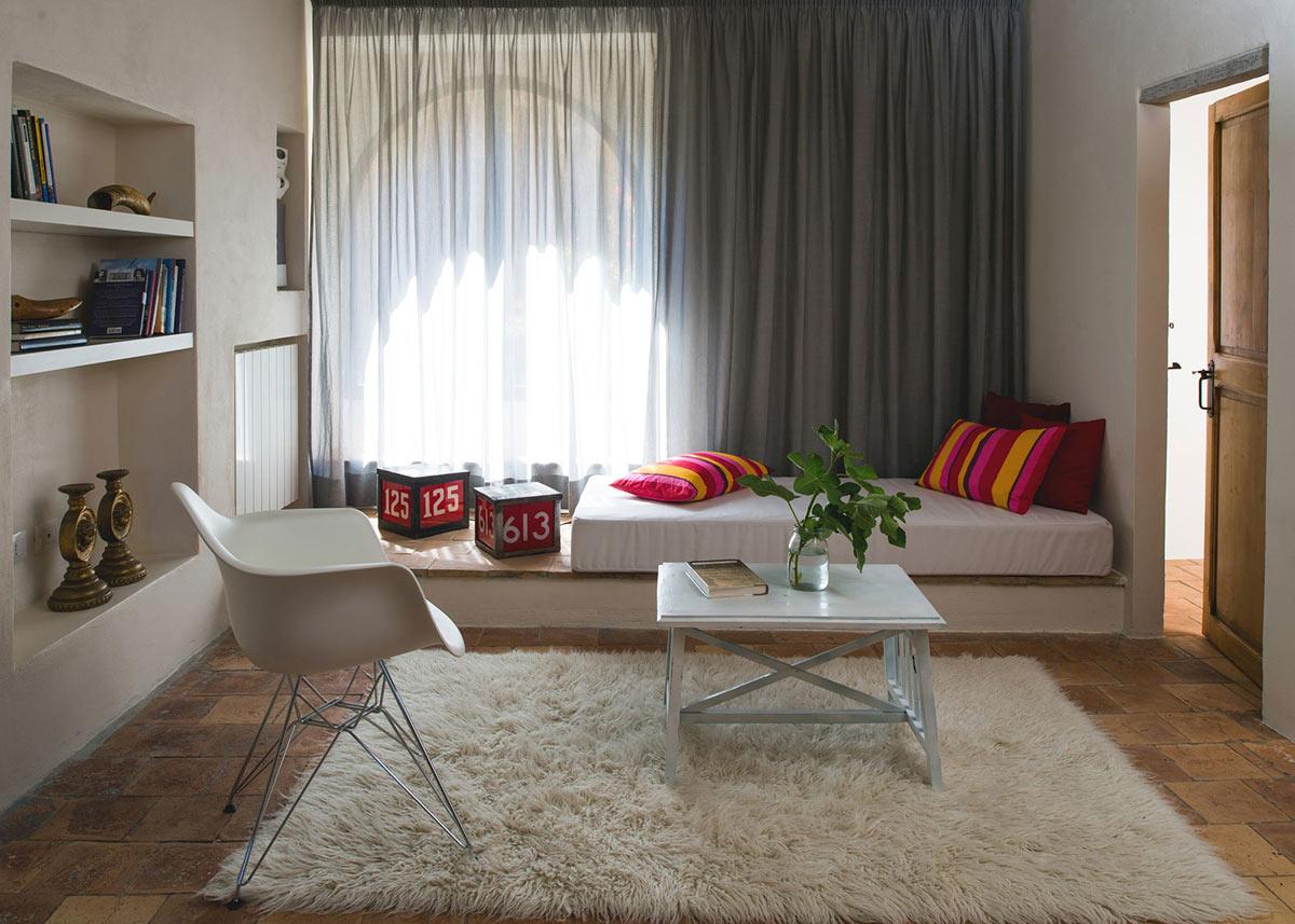 Bedroom, Stunning Renovation in Civita di Bagnoregio by Studio F