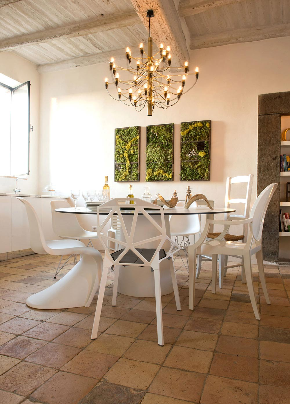 Dining Table, Lighting, Stunning Renovation in Civita di Bagnoregio by Studio F