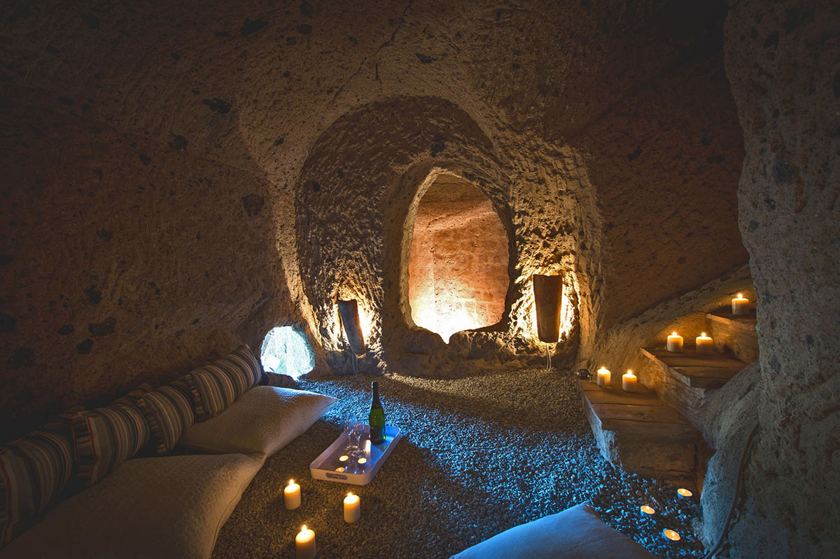 Underground Cave, Living Space, Stunning Renovation in Civita di Bagnoregio by Studio F