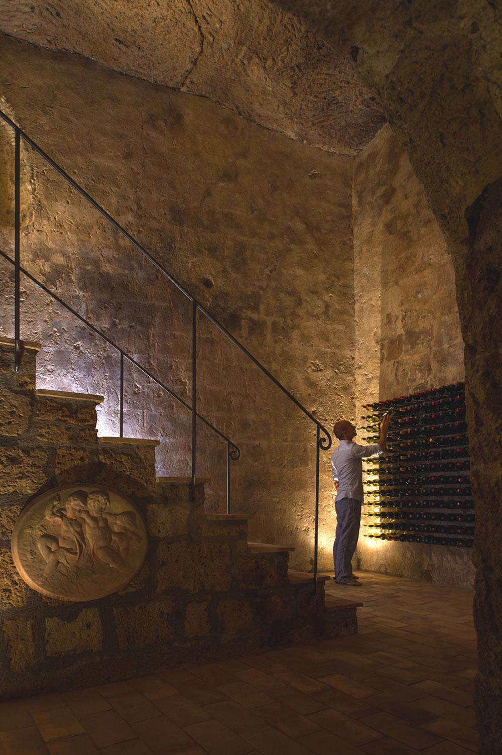 Underground Cave Wine Cellar Stunning Renovation In