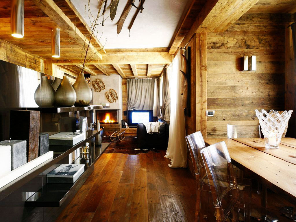 Dining, Living Space, Ampezzo Meleres in Cortina d'Ampezzo, Italy by Gianpaolo Zandegiacomo