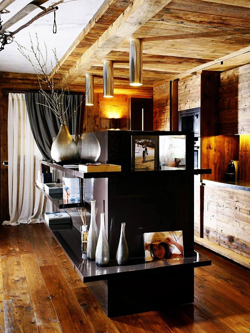 Kitchen, Lighting, Ampezzo Meleres in Cortina d'Ampezzo, Italy by Gianpaolo Zandegiacomo
