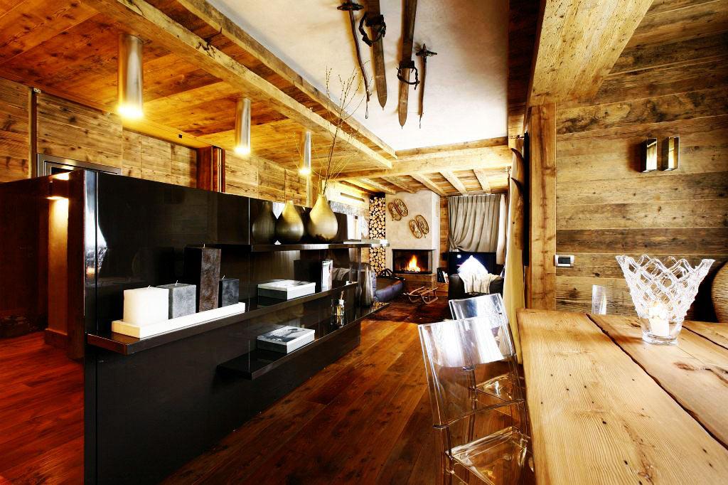Sideboards, Open Plan Living, Ampezzo Meleres in Cortina d'Ampezzo, Italy by Gianpaolo Zandegiacomo