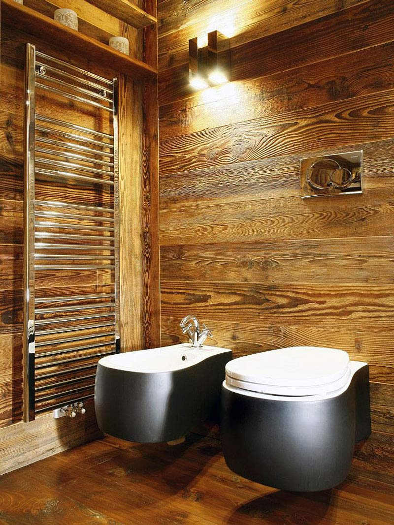 Bathroom, Ampezzo Meleres in Cortina d'Ampezzo, Italy by Gianpaolo Zandegiacomo
