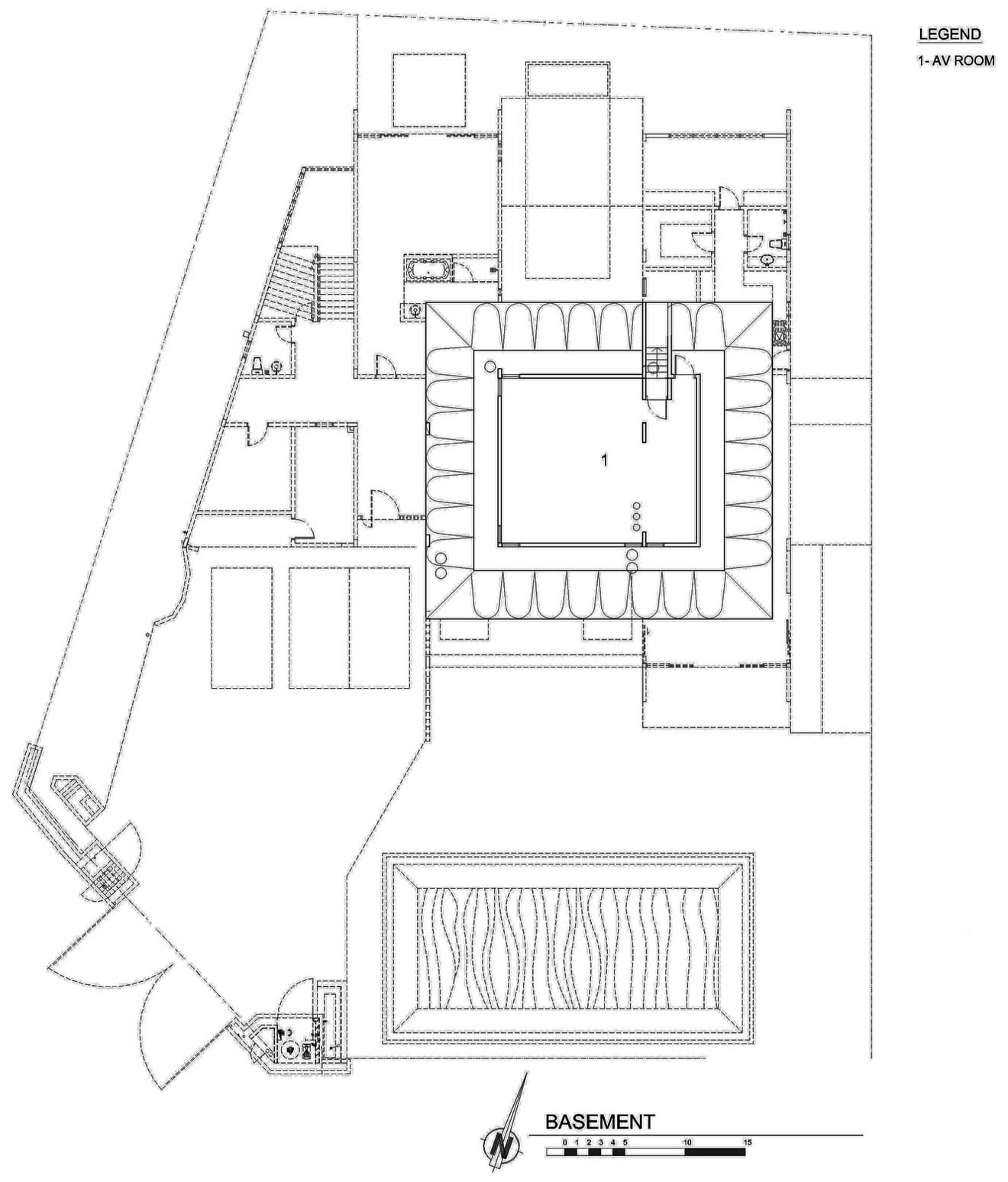 Basement Floor Plan, S11 House in Selangor, Malaysia by ArchiCentre
