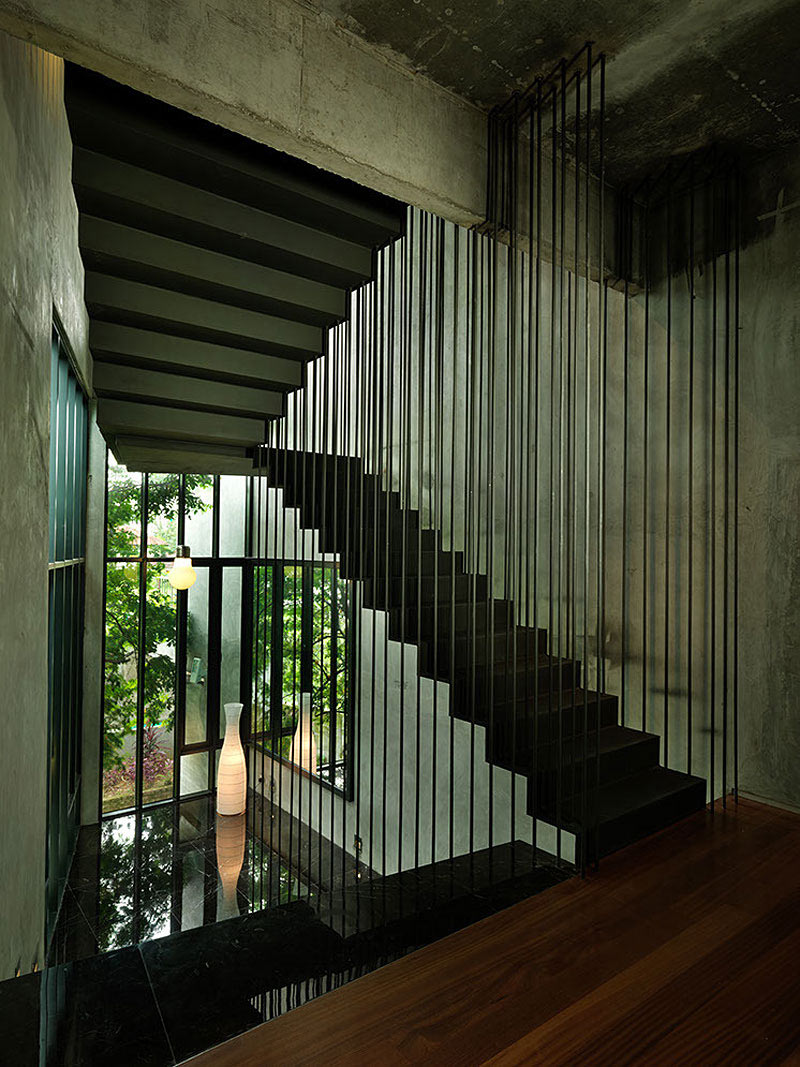 Stairs, S11 House in Selangor, Malaysia by ArchiCentre