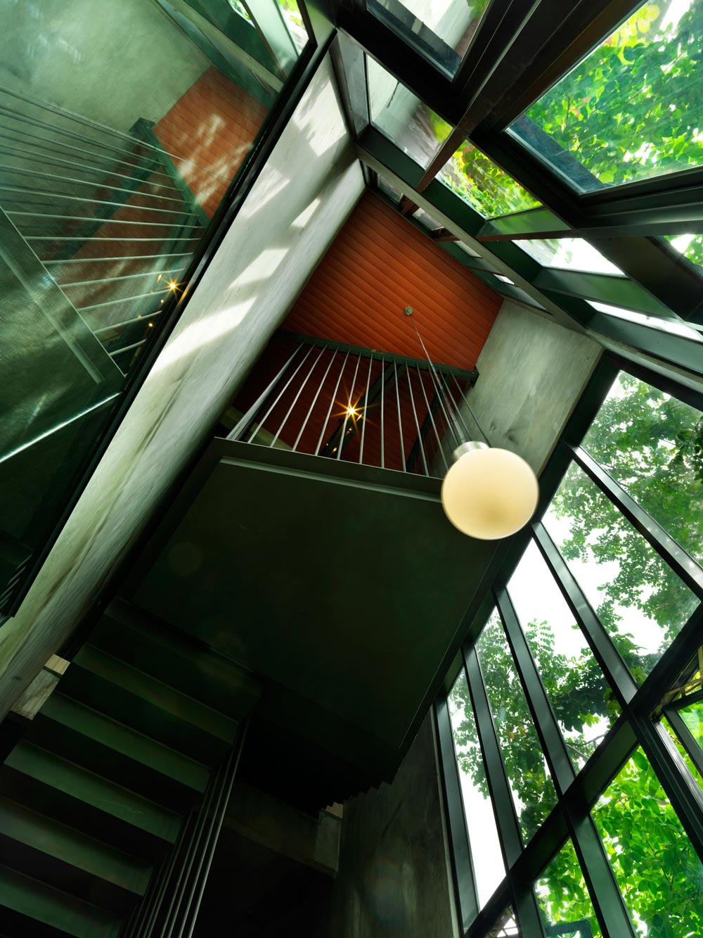 Stairs, Glass Walls, S11 House in Selangor, Malaysia by ArchiCentre