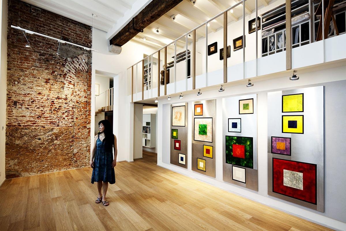 Exposed Wall, Art, T House in Sant'Ambrogio, Milan by Takane Ezoe + Modourbano