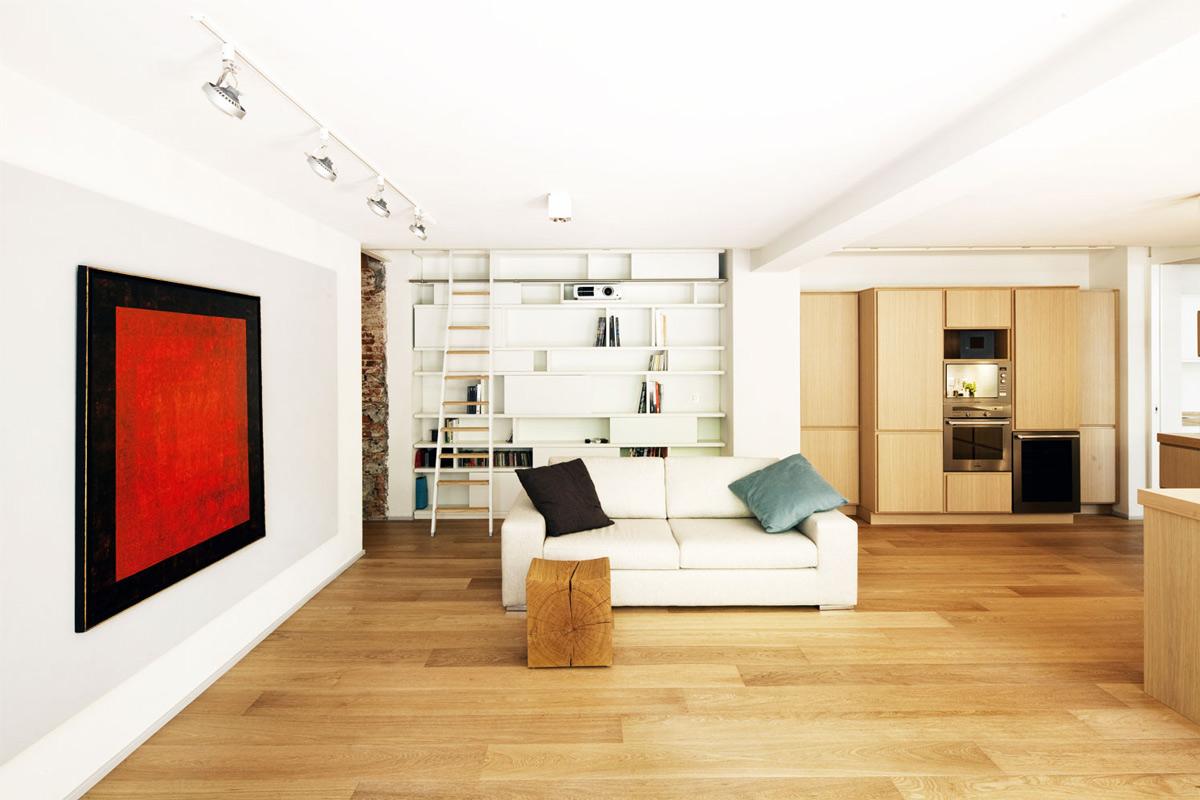 Living Space, Art, Kitchen, T House in Sant'Ambrogio, Milan by Takane Ezoe + Modourbano