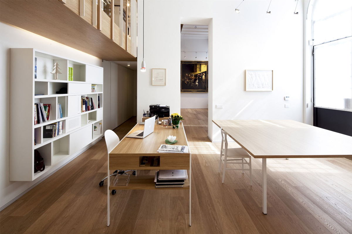Home Office, T House in Sant'Ambrogio, Milan by Takane Ezoe + Modourbano
