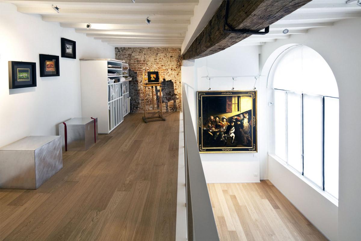 Mezzanine, Wooden Beam, T House in Sant'Ambrogio, Milan by Takane Ezoe + Modourbano