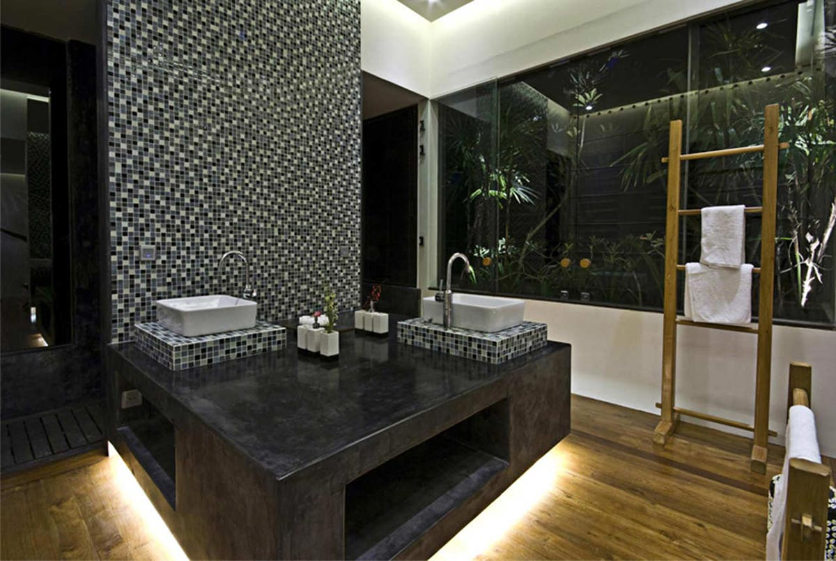 Bathroom, Tantangan Villa in Bali by Word of Mouth Architecture