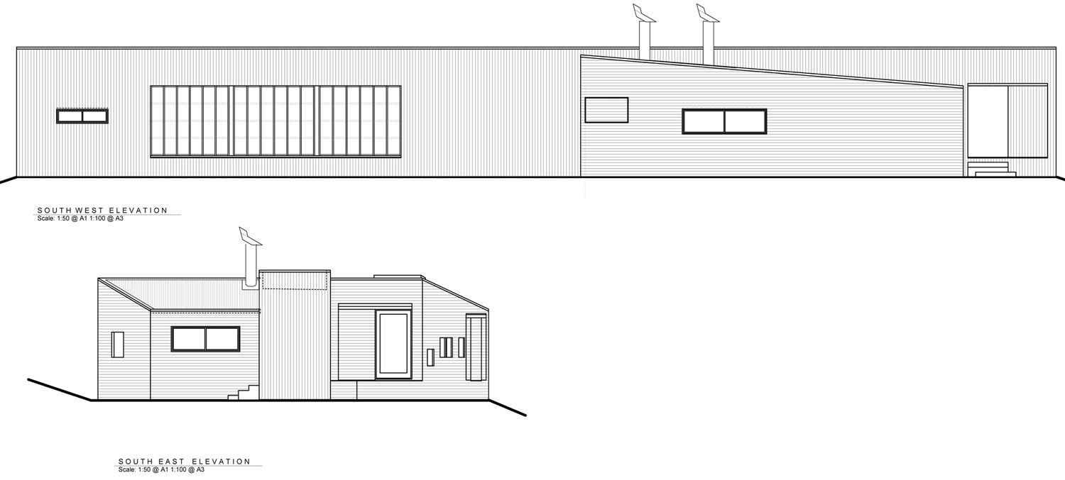 South East Elevation, Tutukaka House in New Zealand by Crosson Clarke Carnachan Architects
