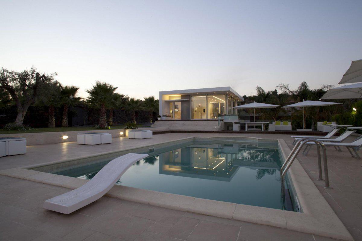 Terrace, Pool, Villa con Piscina in Catania, Italy by Sebastiano Adragna