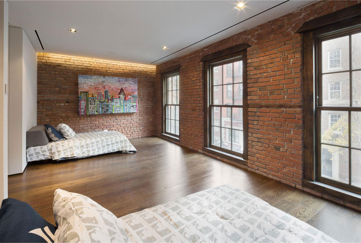 Bedroom, Art, Converted Townhouse, in Greenwich Village in New York City