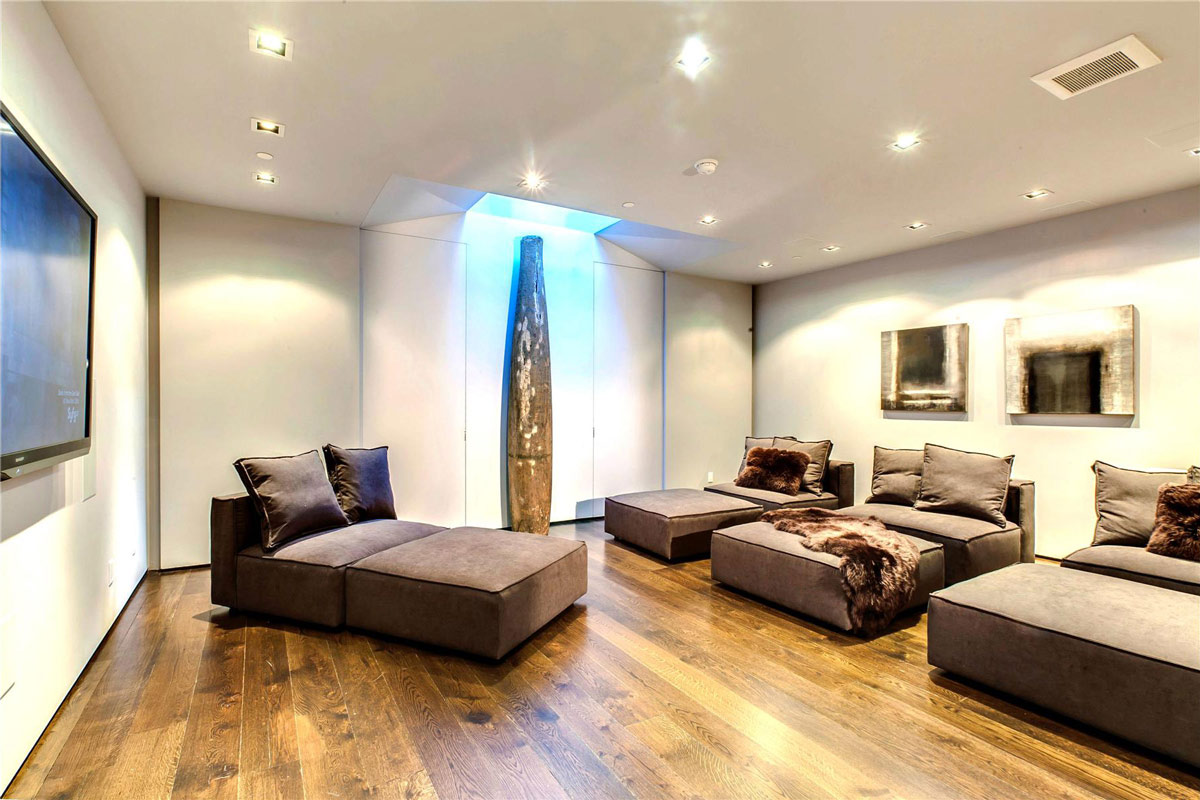 Home Cinema, Converted Townhouse, in Greenwich Village in New York City