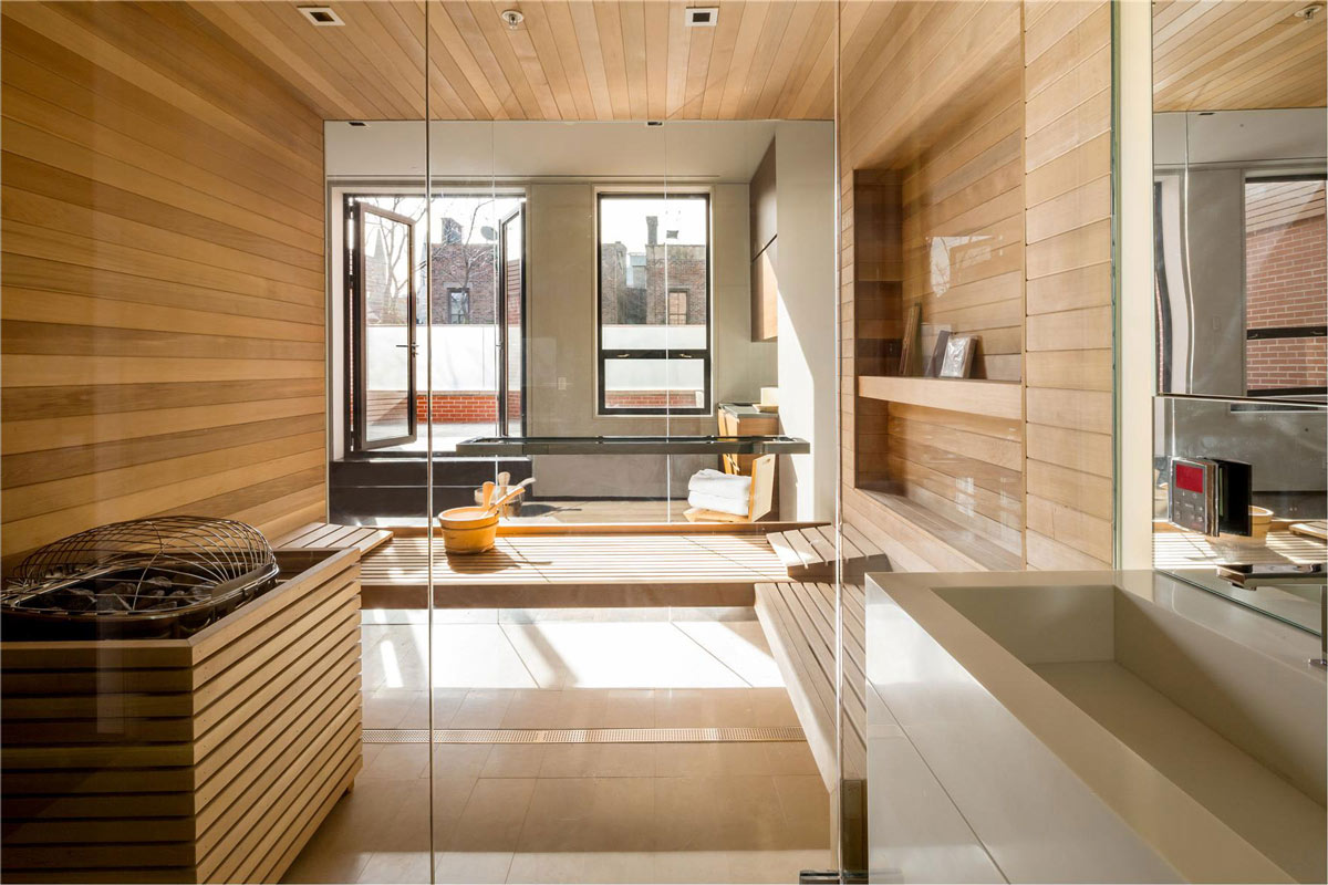 Sauna, Converted Townhouse, in Greenwich Village in New York City