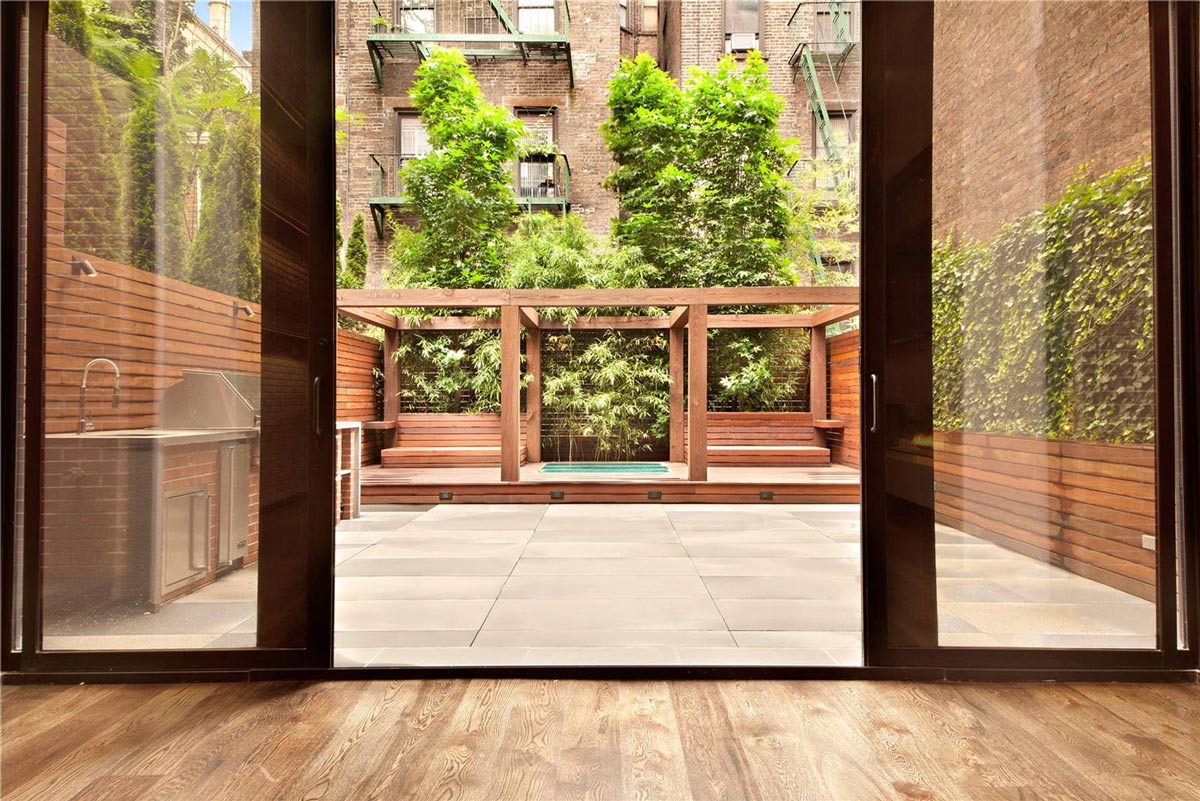 Terrace, Outdoor Kitchen, Converted Townhouse, in Greenwich Village in New York City