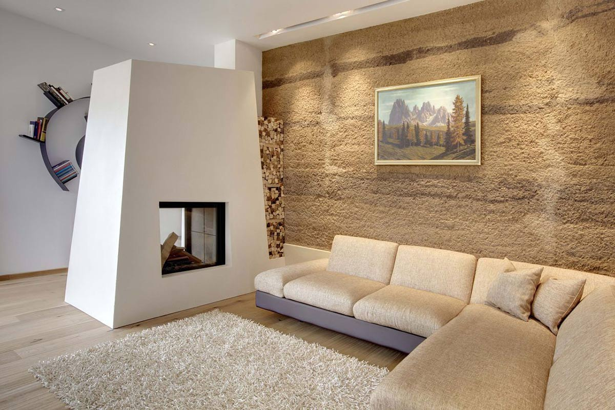 Fireplace, Living Space, Casa Prè de Sura in San Martino, Italy by Casati