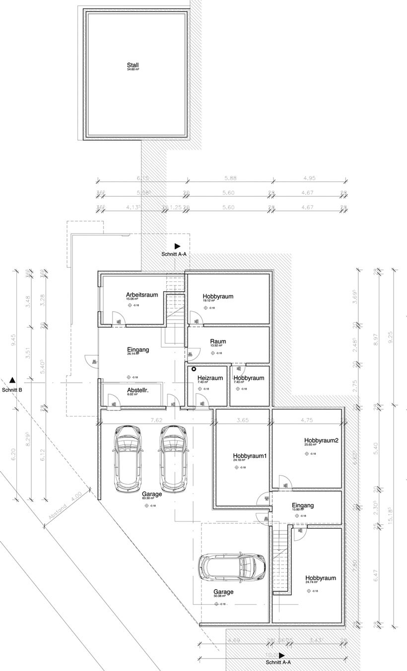 Ground Floor Plan, Casa Prè de Sura in San Martino, Italy by Casati