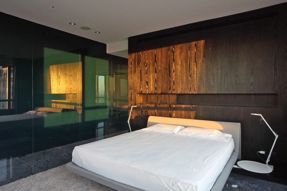 Bedroom, Rug, Modern Apartment in Buenos Aires, Argentina by vEstudio Arquitectura