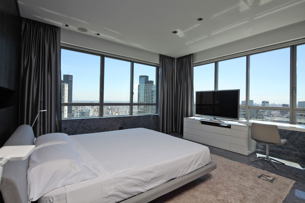 Bedroom, Views, Modern Apartment in Buenos Aires, Argentina by vEstudio Arquitectura