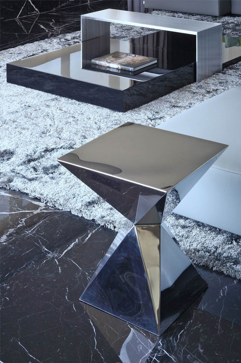 Contemporary Coffee Table, Modern Apartment in Buenos Aires, Argentina by vEstudio Arquitectura