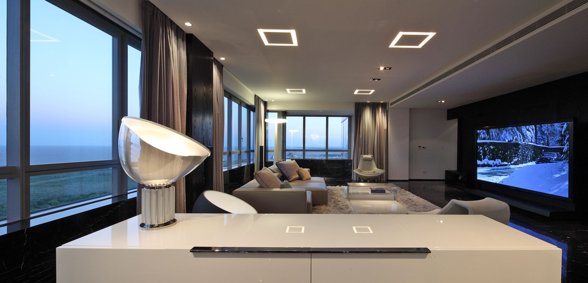 Living Space, Modern Apartment in Buenos Aires, Argentina by vEstudio Arquitectura
