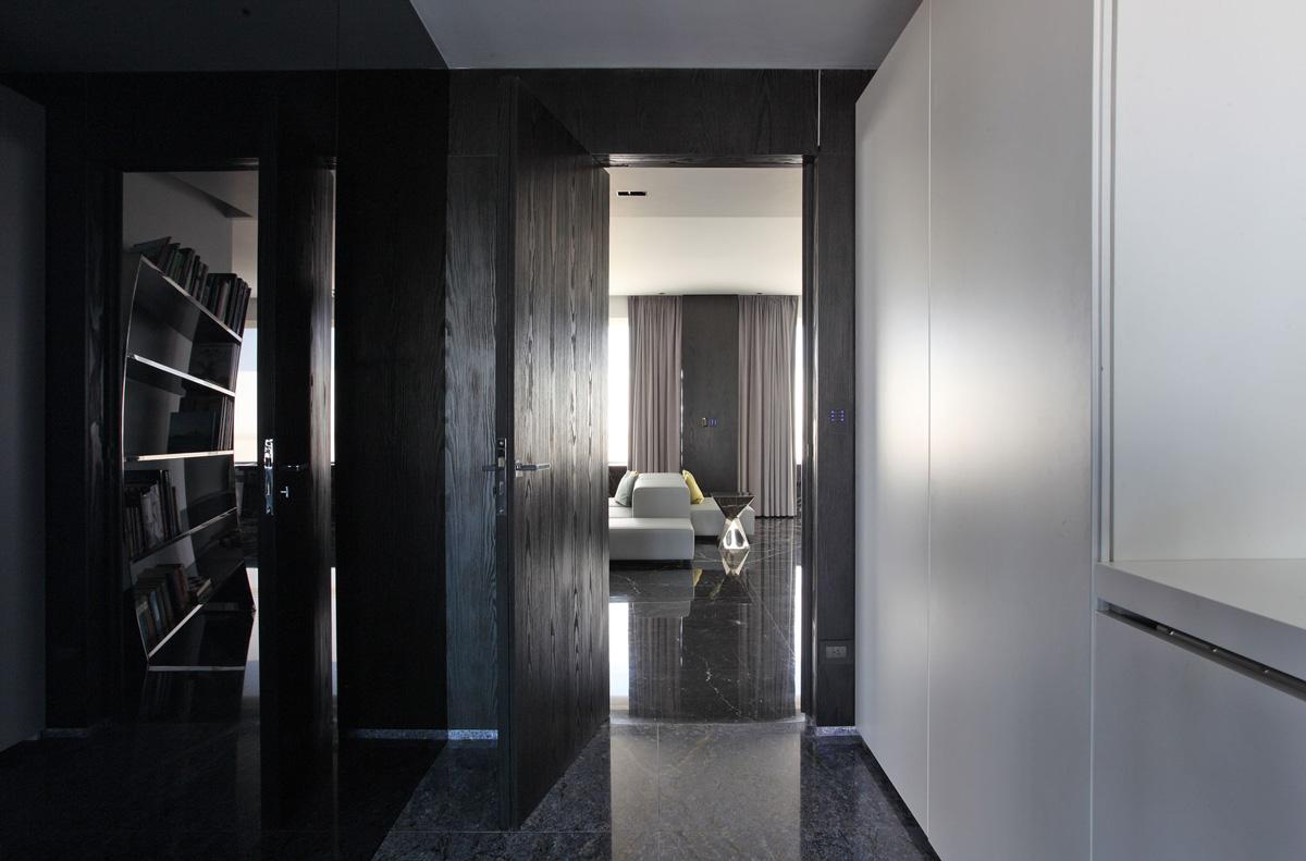 Black white interior design modern apartment in buenos aires argentina by vestudio arquitectura