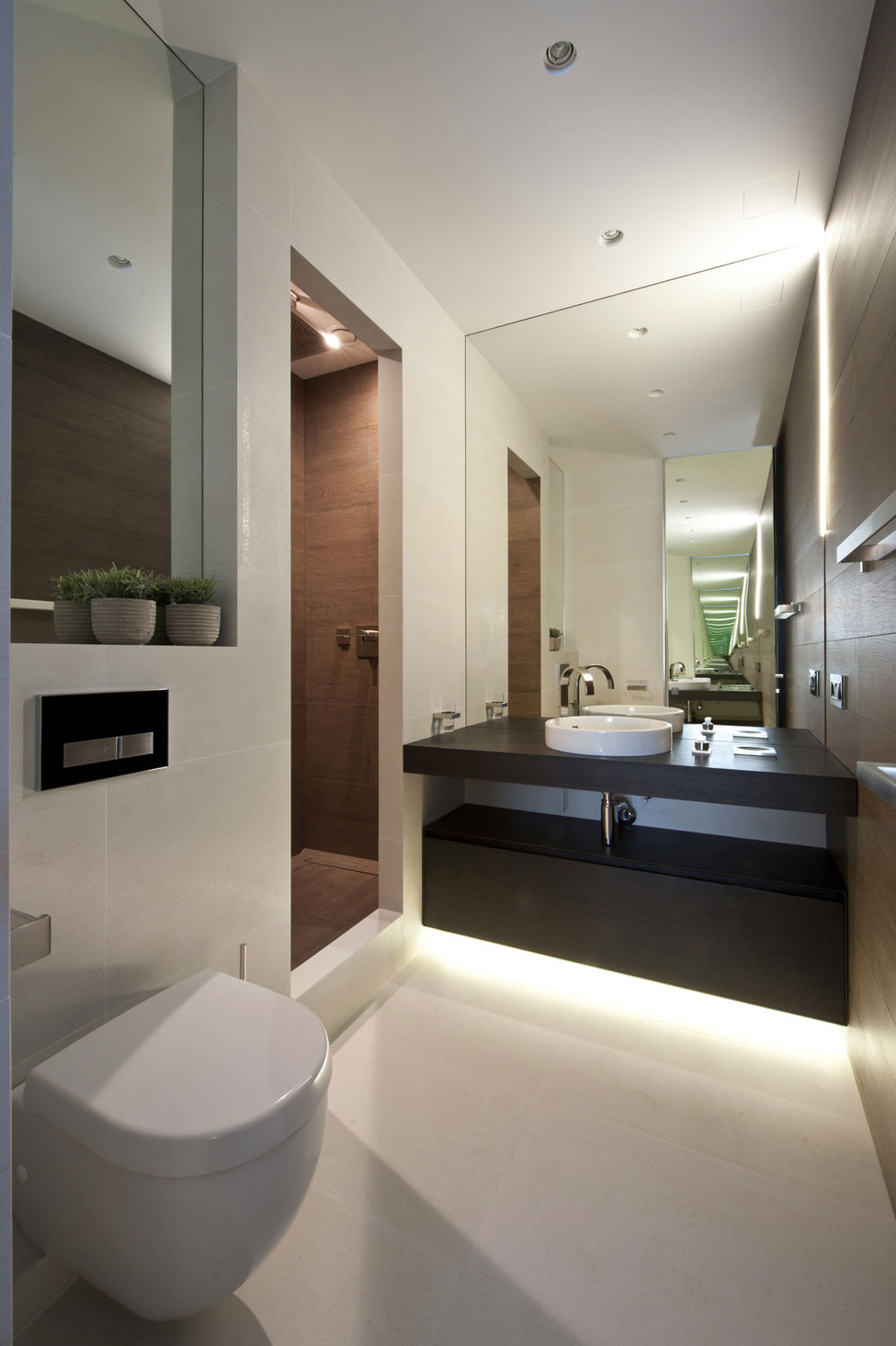 Bathroom, Sink, Mirror, Apartment in Zelenograd, Russia by Alexandra Fedorova