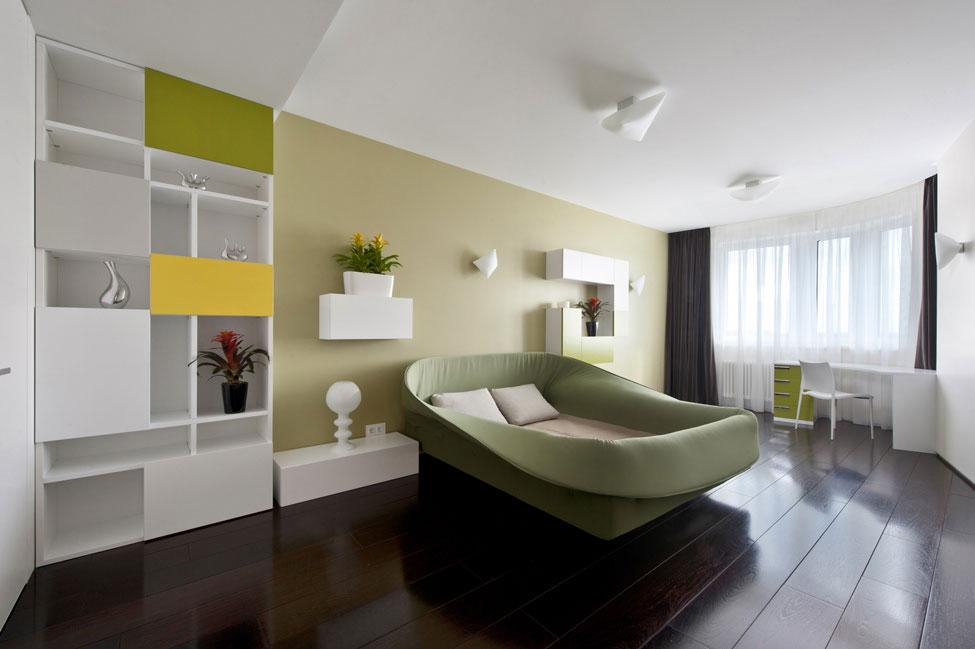Bedroom, Apartment in Zelenograd, Russia by Alexandra Fedorova