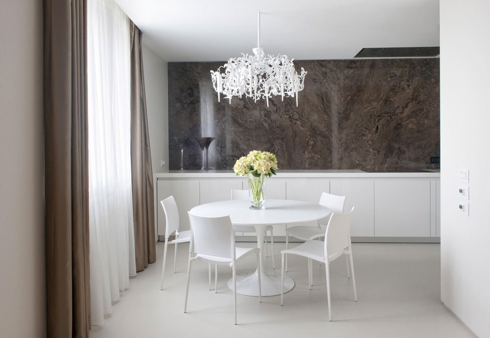 Dining Table, Apartment in Zelenograd, Russia by Alexandra Fedorova