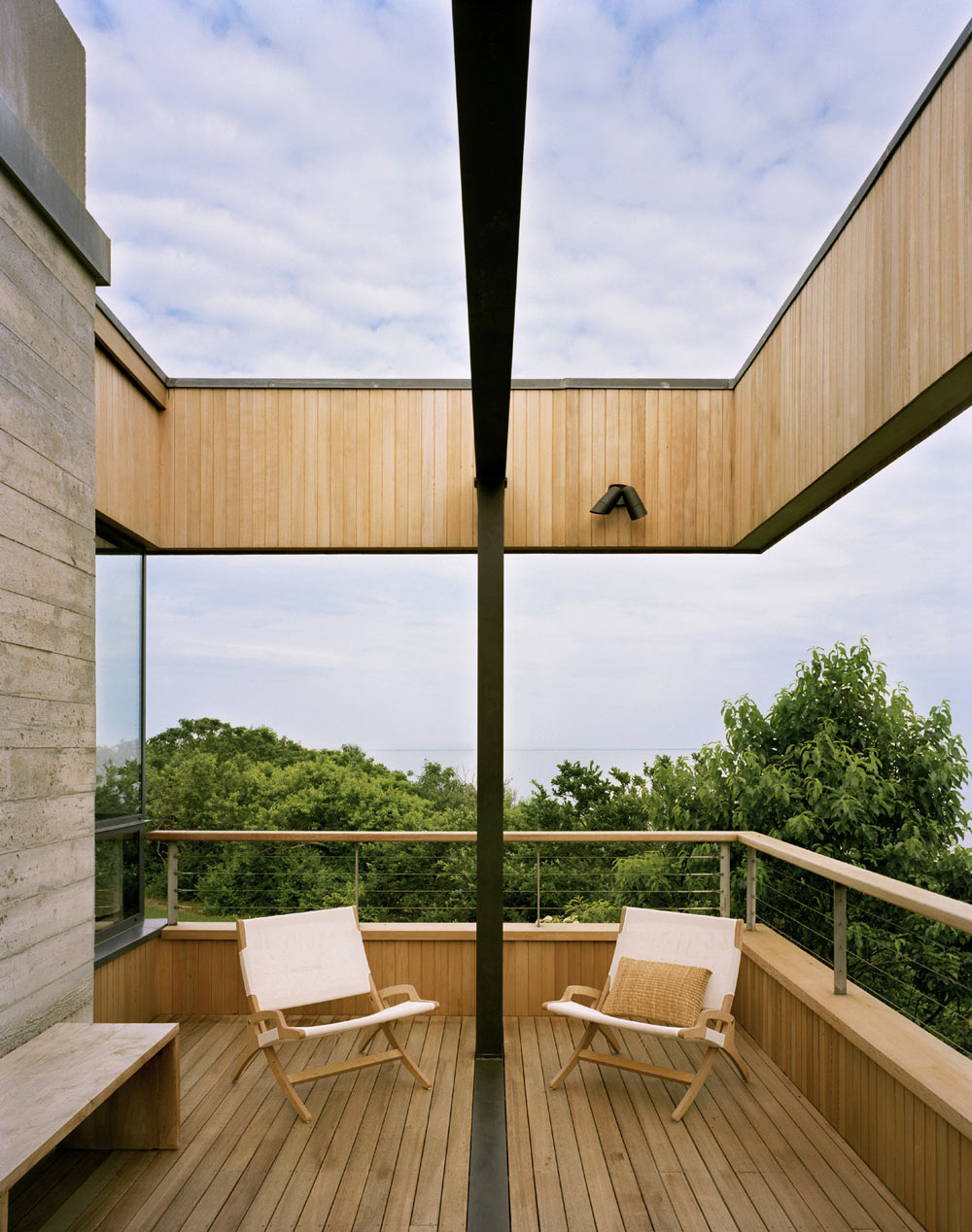 Balcony, Bluff House in Montauk, New York by Robert Young