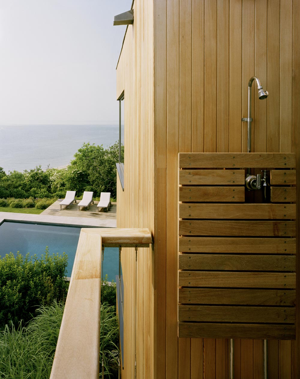 Outdoor Shower, Bluff House in Montauk, New York by Robert Young