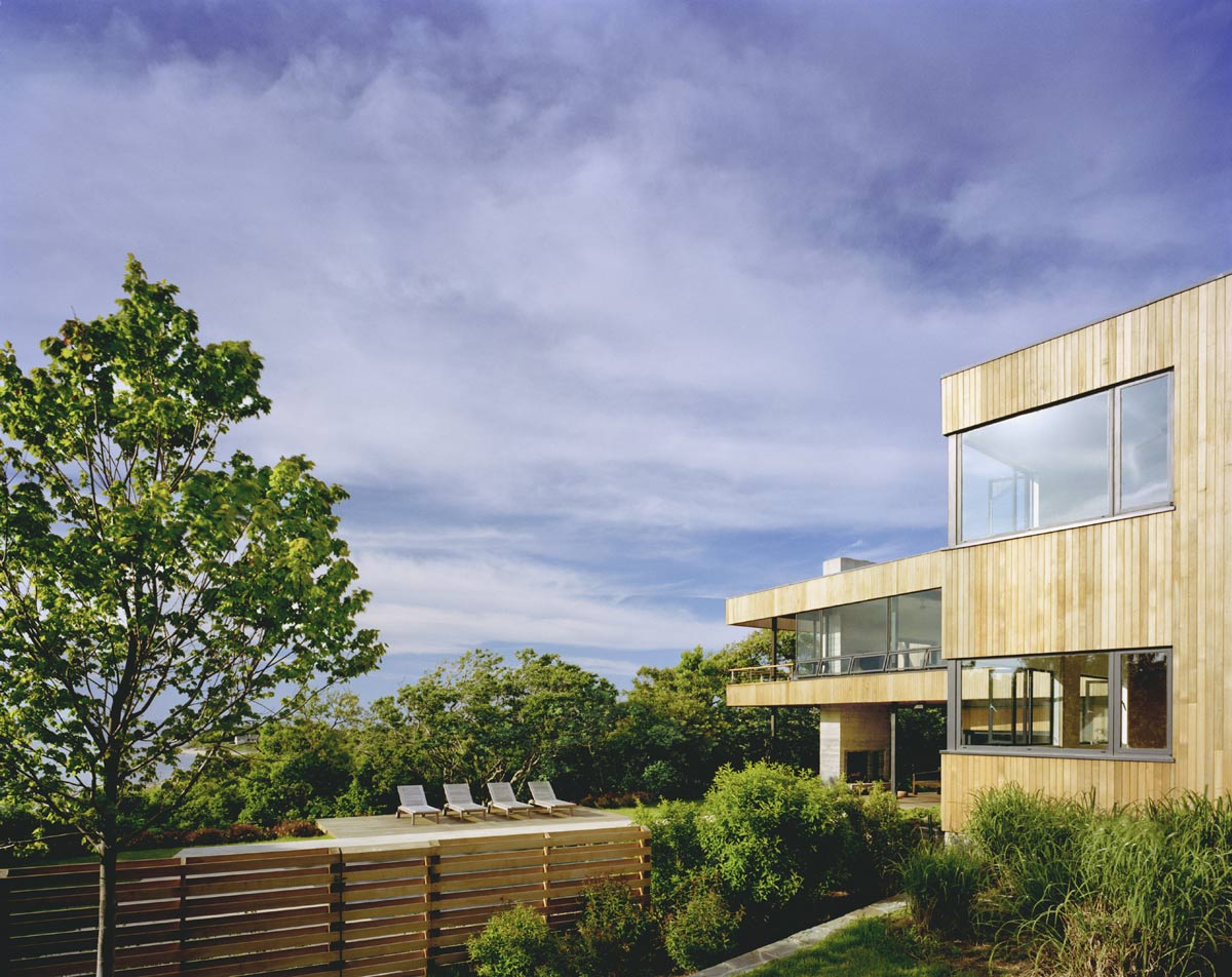 Terrace, Bluff House in Montauk, New York by Robert Young