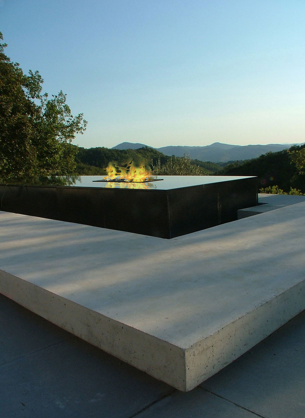 Contemporary Fireplace, Water Feature, Views, Torre Moravola Boutique Hotel in Montone, Italy