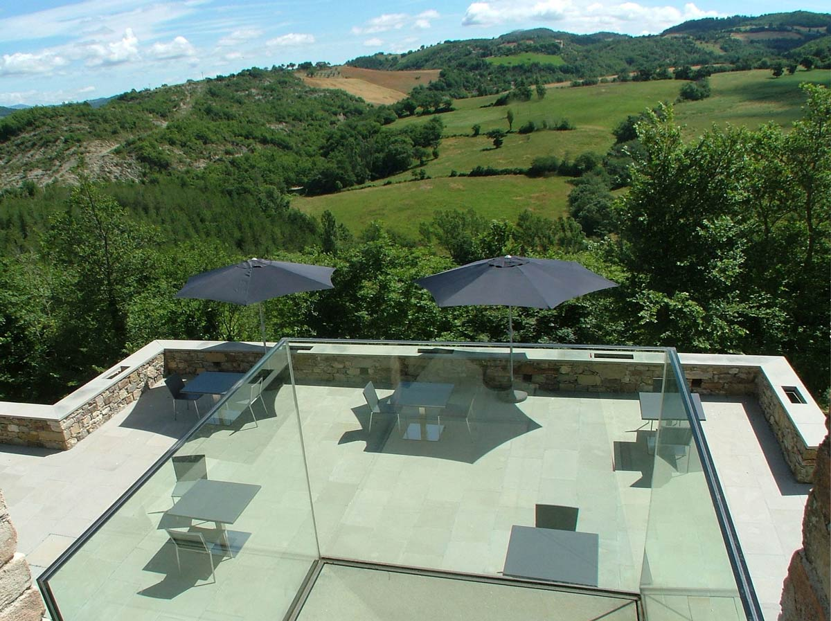 Terrace, Outdoor Dining, Torre Moravola Boutique Hotel in Montone, Italy