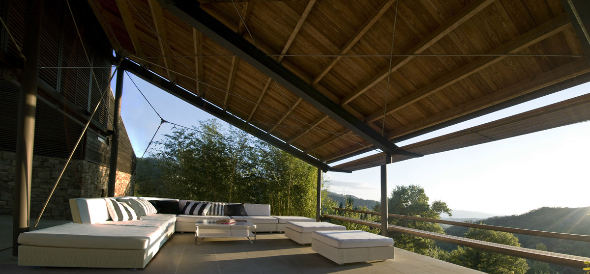 Terrace, Outdoor Sofa, Views, Torre Moravola Boutique Hotel in Montone, Italy