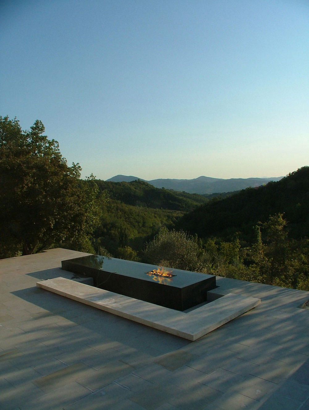 Terrace, Water Feature, Fireplace, Torre Moravola Boutique Hotel in Montone, Italy