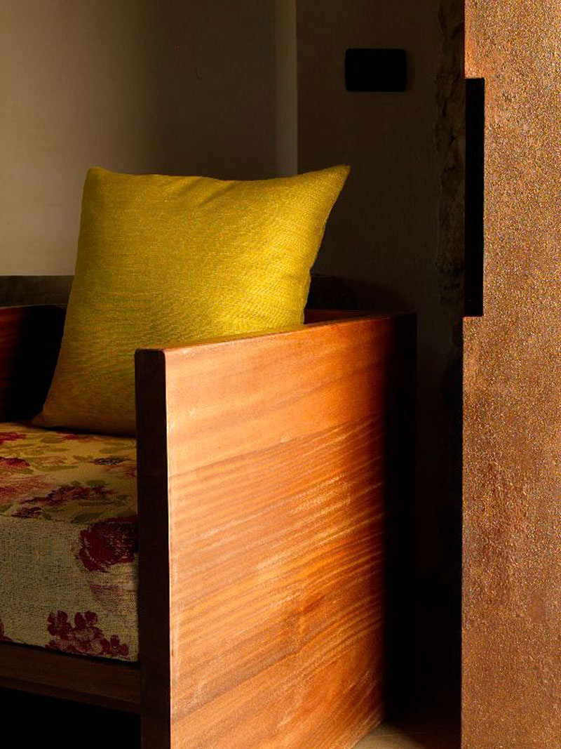 Wooden Chair, Torre Moravola Boutique Hotel in Montone, Italy