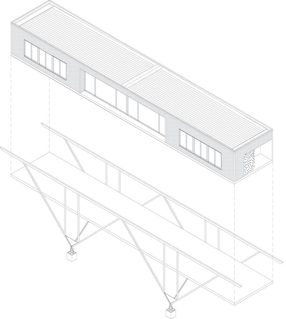 Diagram, Bridge House in Adelaide, Australia by Max Pritchard Architect