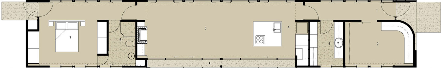 Floor Plan, Bridge House in Adelaide, Australia by Max Pritchard Architect