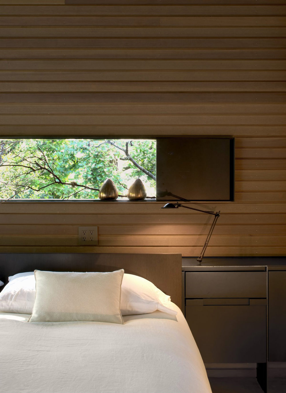 Bedroom, Urban Cabin in Medina, Washington by Suyama Peterson Deguchi