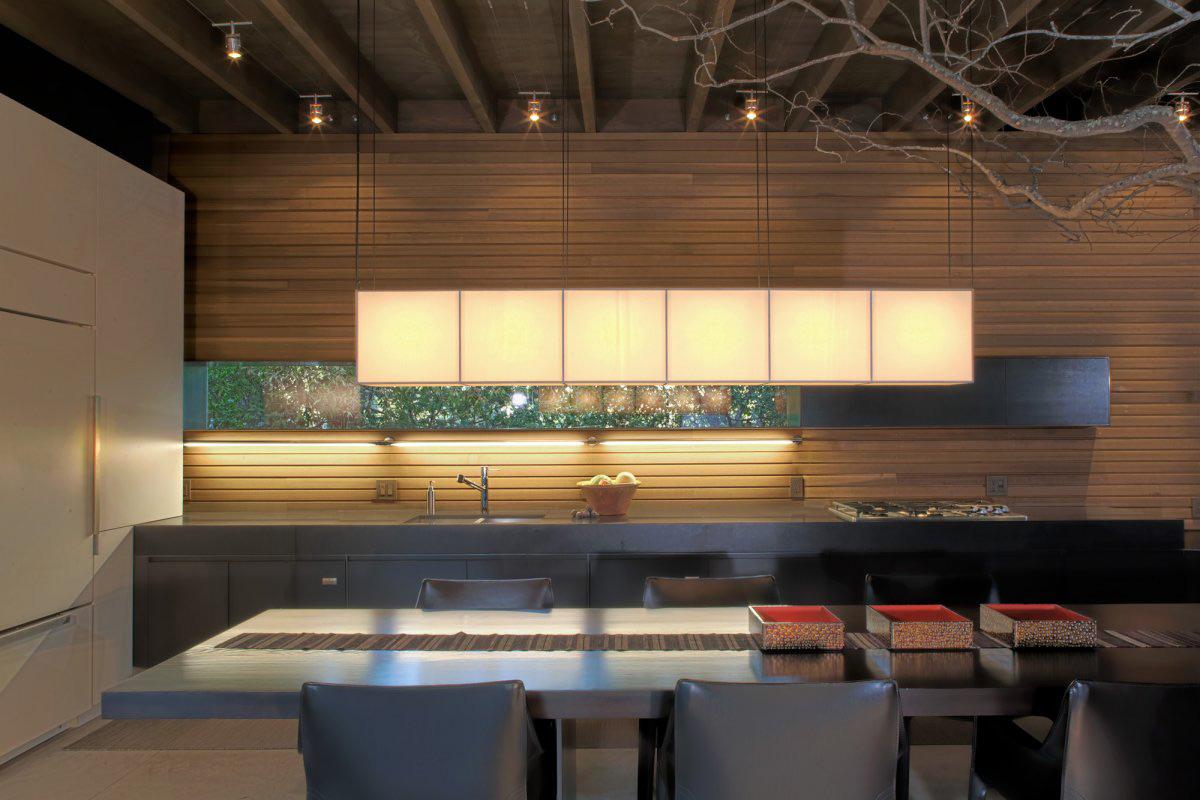 Modern Kitchen, Dining Table, Urban Cabin in Medina, Washington by Suyama Peterson Deguchi