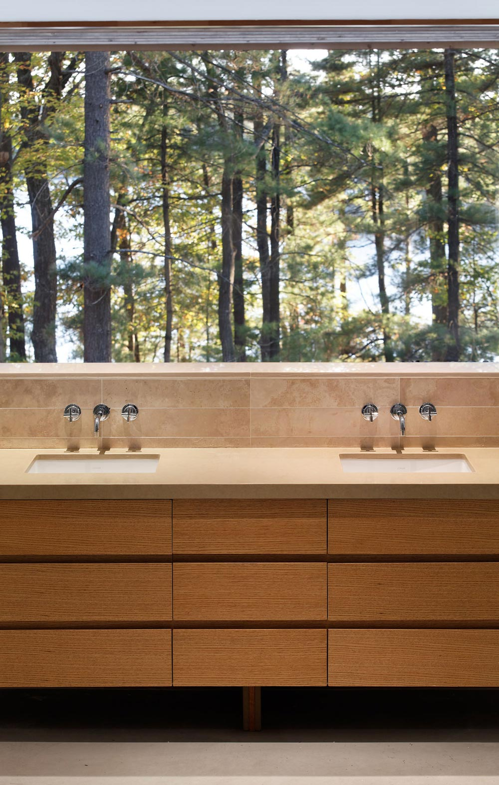 Bathroom, Twin Sinks, Carling Residence in Ontario, Canada by TACT Architecture