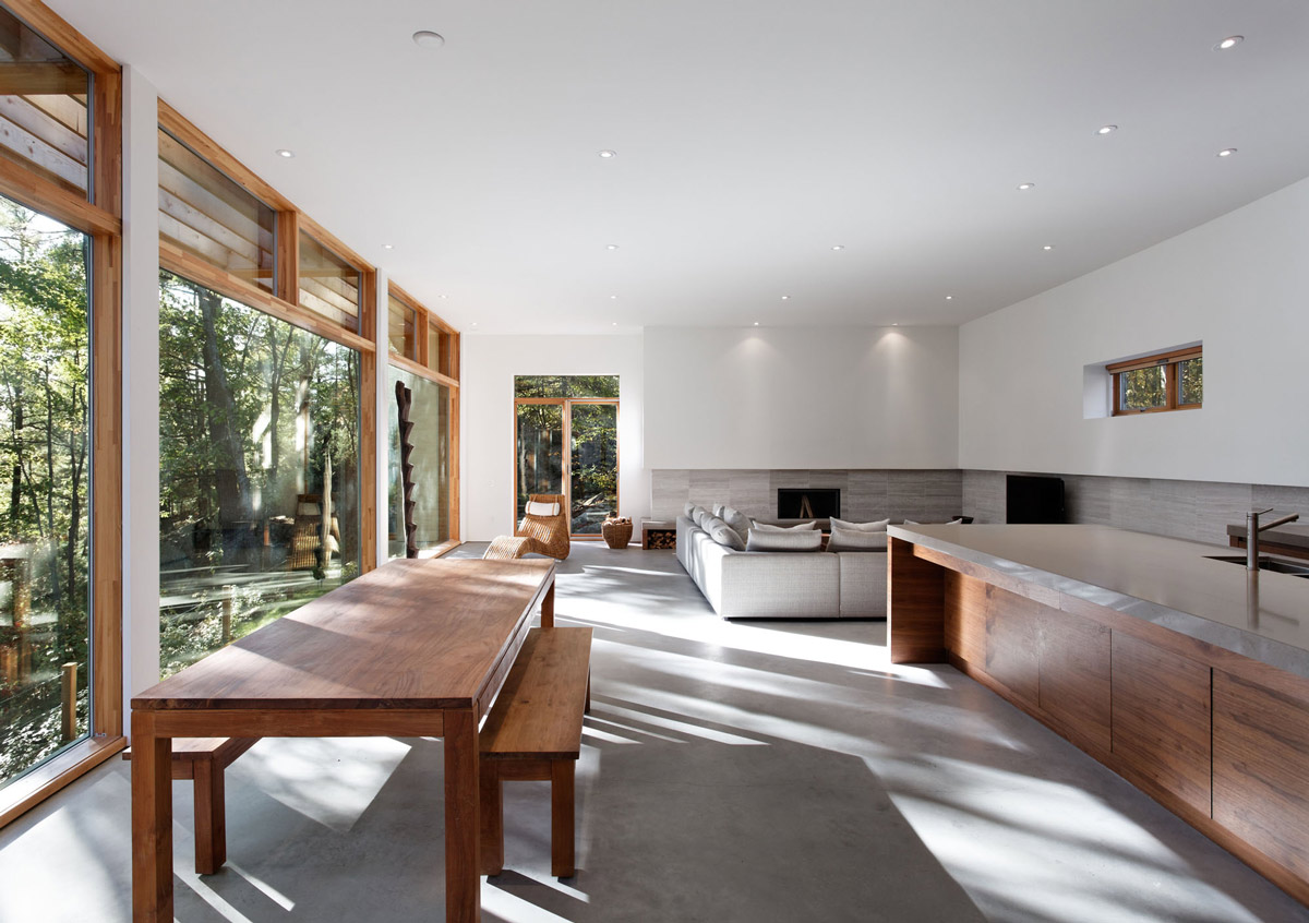 Kitchen, Dining, Living Space, Carling Residence in Ontario, Canada by TACT Architecture