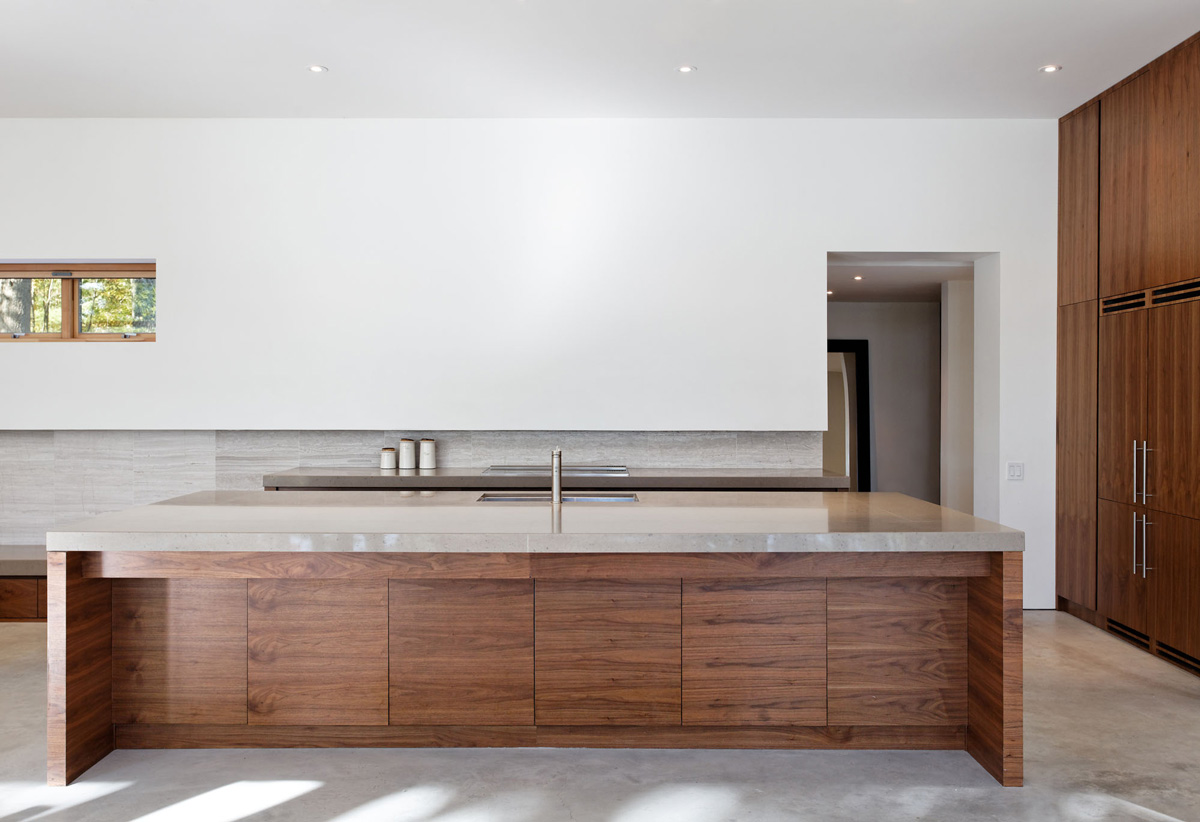 Kitchen Island, Carling Residence in Ontario, Canada by TACT Architecture