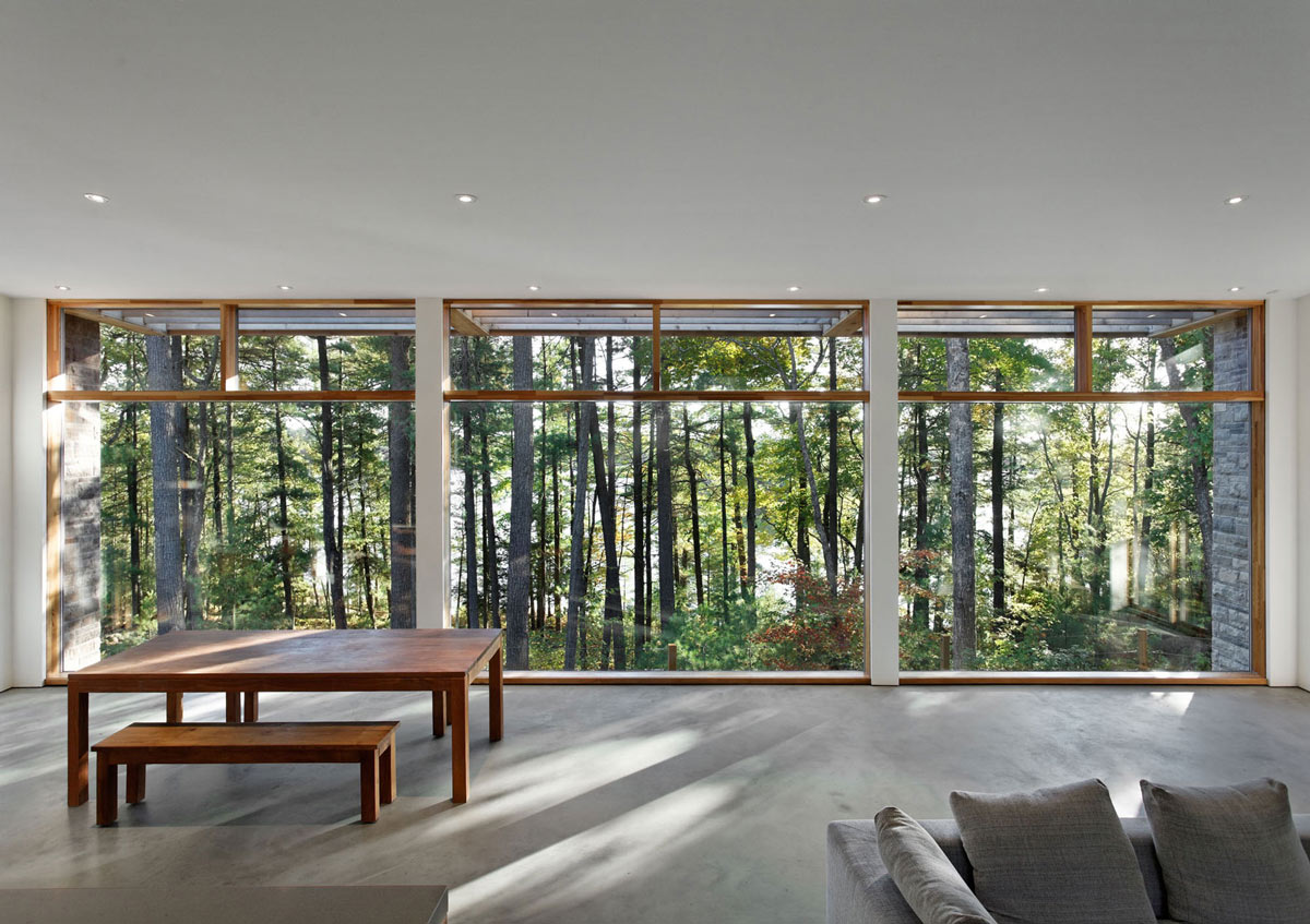 Living Space, Views, Carling Residence in Ontario, Canada by TACT Architecture
