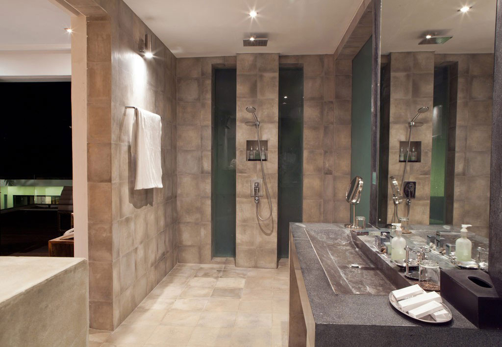 Shower, Large Stone Sink, Casa Hannah in Bali, Indonesia by Bo Design